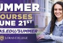 Summer Term Courses Continuing at Loras June 21
